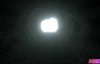Octane渲染器山洞材質渲染光效環境光C4D教程