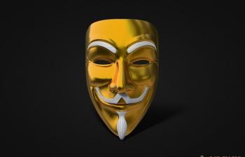 V字仇杀队黄金面具模型