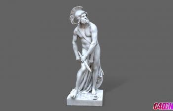 C4D模型 法国卢浮宫博物馆菲洛皮门雕塑模型