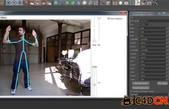 C4D体感控制插件Kinect + KiCapOSC plugin + cinema 4d