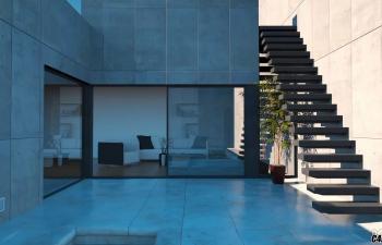 C4D Octane渲染器教程 建筑场景灯光漫游延时动画制作教程