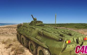 一辆小步兵车模型渲染