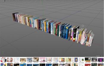 书本模型工程(含贴图)