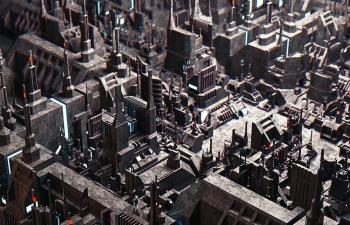C4D精品工程 No.453 复杂机械城市
