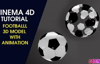 C4D利用基础对象钻石模型制作足球结构动画材质渲染C4D教程