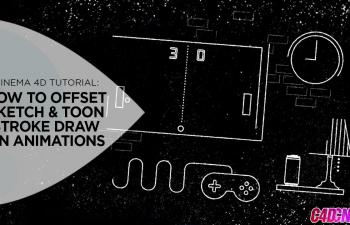 如何在Cinema 4D中偏移草图和卡通笔画绘制动画C4D教程 How to Offset Sketch & 卡通 Stroke Draw On Animations in Cinema 4D