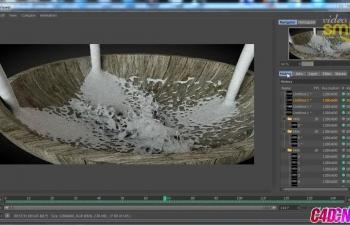 C4D+Realflow软件制作牛奶液体模拟教程