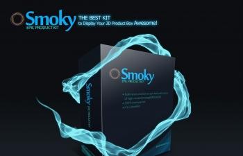 烟雾环绕产品包装元素PSD模板