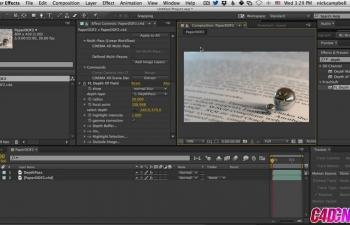 GSG183.使用Cineware和After Effects为您的复合材质添加景深C4D教程