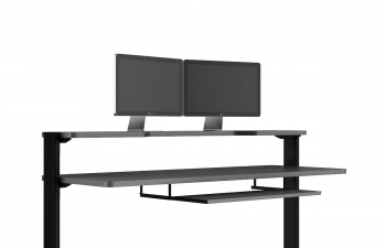 C4D模型 商场展厅电脑桌子双显示器电脑屏幕模型