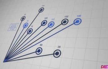 C4D表达式节点制作柱状图生长动画教程 Xpresso 101 Making a Simple Bar Graph