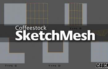 【C4D插件】绘制描线专业建模神器 SketchMesh v1.5