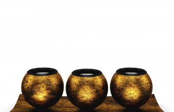 C4D模型 黄金材质金属蜡烛台摆件模型