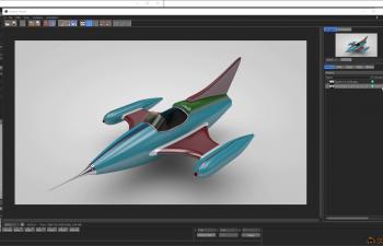 ToyJet科幻小飞机建模 渲染教程