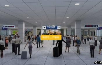 MAX模型 地铁站出口
