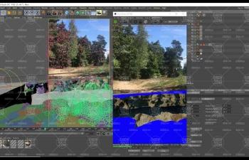 C4D運動追蹤實景合成路面斷崖Octane渲染器AE合成C4D教程