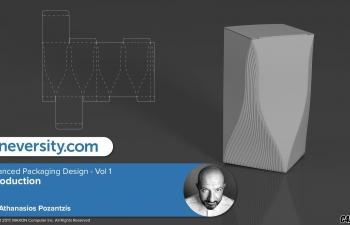 C4D 异形风格产品包装盒设计制作教程