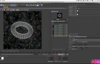 GSG340.Cinema 4D教程 - 结合多种技术在C4D中创建强大的微观原子外观C4D教程