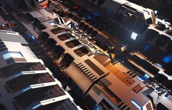 C4D精品工程 No.374 复杂结构的科幻飞船