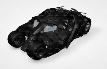 C4D模型 蝙蝠俠戰車模型