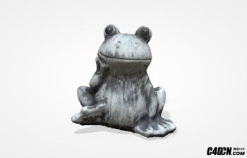 C4D模型 花园青蛙雕塑装饰品 Frog Garden Statue