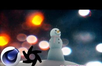 Octane渲染器可爱雪人材质C4D教程