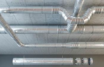 油管 通风管道各种管道模型合集 Set ventilation pipes