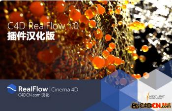 【试用版】RealFlow For C4d  demo 全部参数汉化 修正版