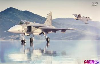 C4D模型 战斗机飞机战机模型