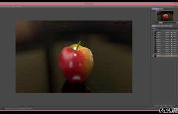 逼真的苹果模型在CINEMA 4D的建模与绘制