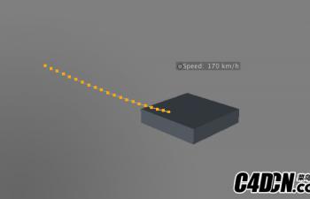 C4D物体跟踪速度显示预设