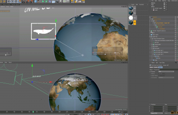 C4D预设 地球地图路径生成器含教程Map Route Builder