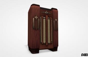 C4D模型 复古收音机