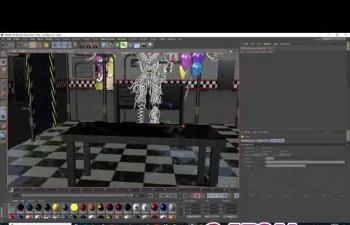 C4D教程 机械朋克动画风格K帧动画教程