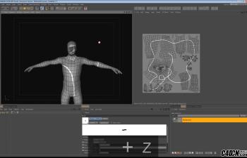 CINEMA 4D  男性人体模型拆解UV全程实例讲解