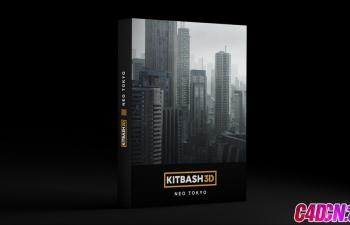C4D模型 纽约城市模型包 Kitbash3D-Neo Tokyo