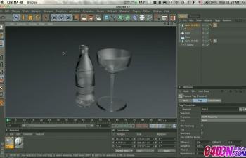 C4D教程 可口可乐高脚杯瓶子建模教程 How to model a Glass Bottle
