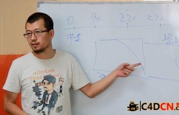 C4D教程-XPresso实例-折扇制作详解