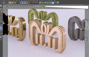 雙十一LOGO金屬等多個材質模型