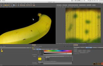 香蕉C4D UV材质贴图教程 3 Methods for Texture Mapping a Banana in Cinema 4D