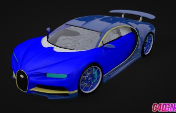 布加迪跑車C4D模型