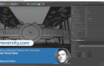 C4D运动图形工具制作一个体育片头教程 Creating a MoGraph Sports Intro Animatic