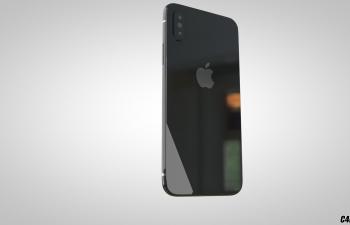 自建iPhoneX模型,有贴图材质