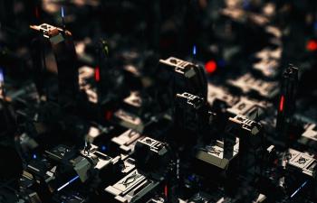 C4D精品工程 No.433 机械风格电子芯片