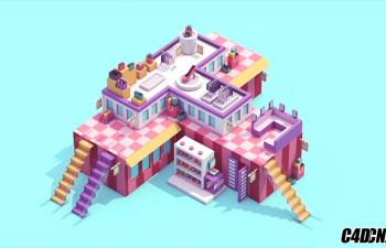 [高级案例] C4D 扁平化二维动画制作视频教程