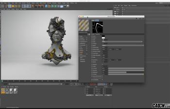 Cinema4D -教程   置换贴图建模教程