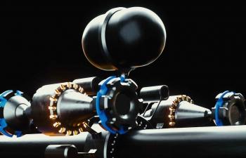 Octane渲染器黑色管道机器设备工业设计C4D模型