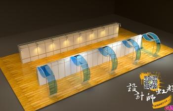 C4D模型 展厅设计微信号18980089154