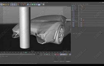 C4D教程 汽车柔体碰撞变形器教程 Car Crashes using Collision Deformer in CINEMA 4D