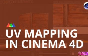 C4D UV映射贴图绘制模型C4D教程 UV Mapping in Cinema 4D